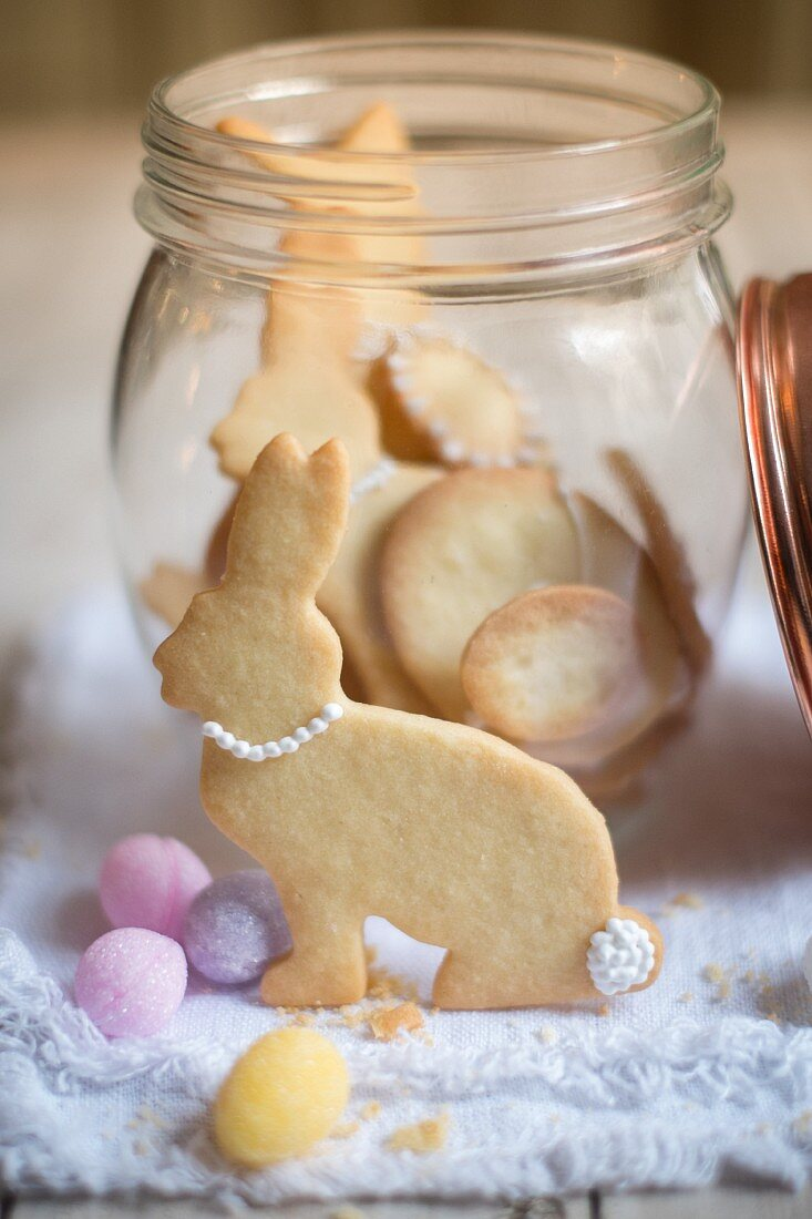 Easter bunny biscuits and sugar eggs