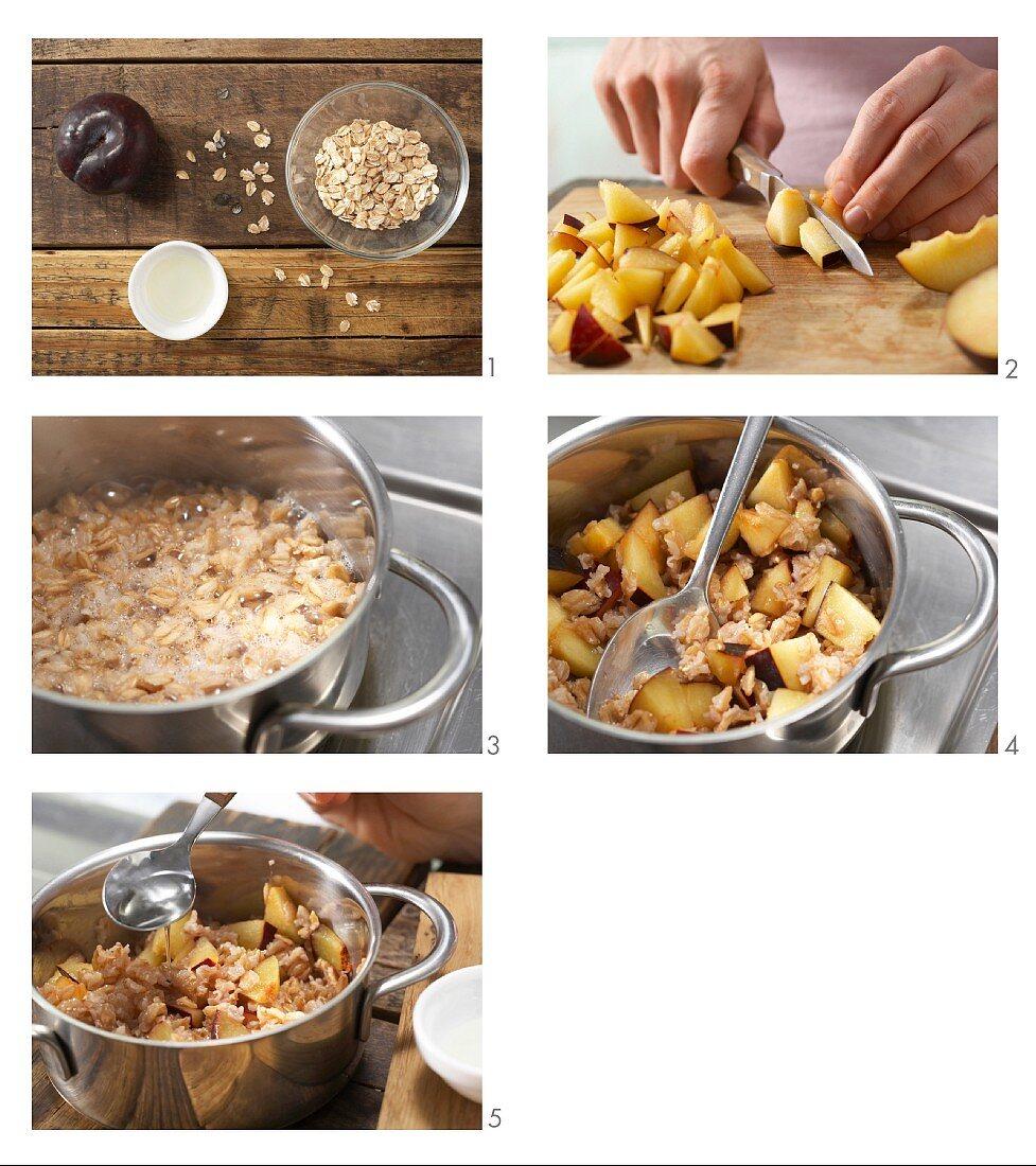 How to prepare wholemeal plum porridge