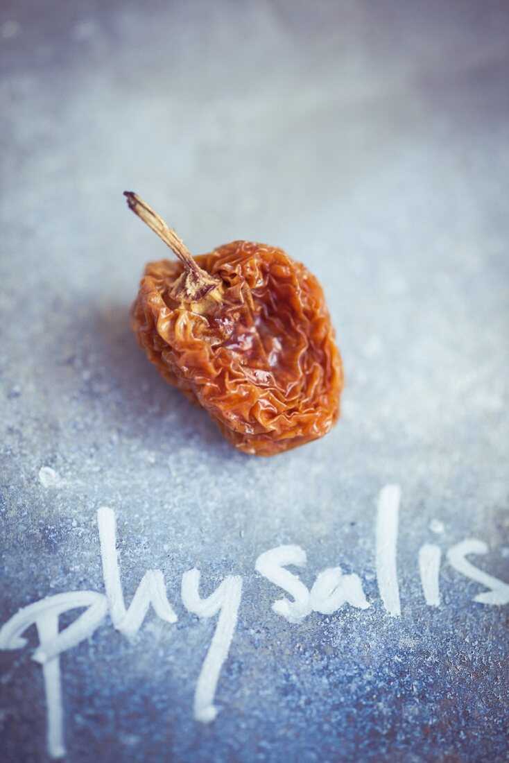 A dried physalis