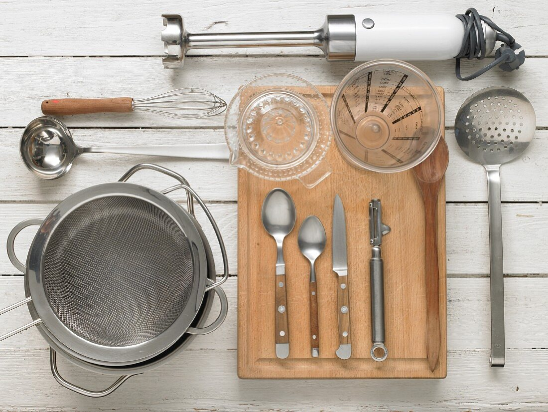 Utensils for cheese soup