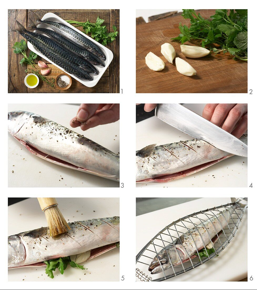 How to prepare barbecued herb mackerel with lemon balm