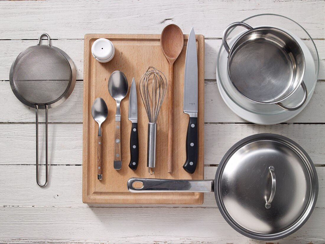 Kitchen utensils for preparing egg salad
