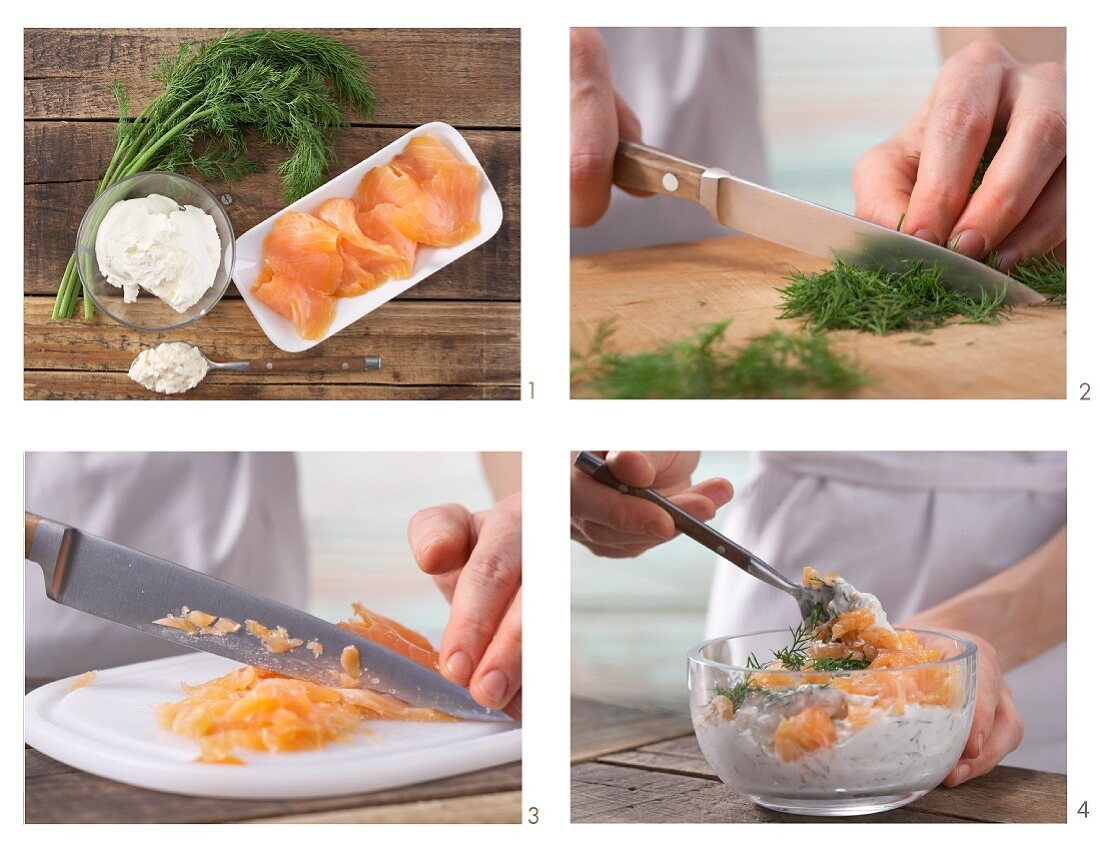 How to prepare smoked salmon and dill cream