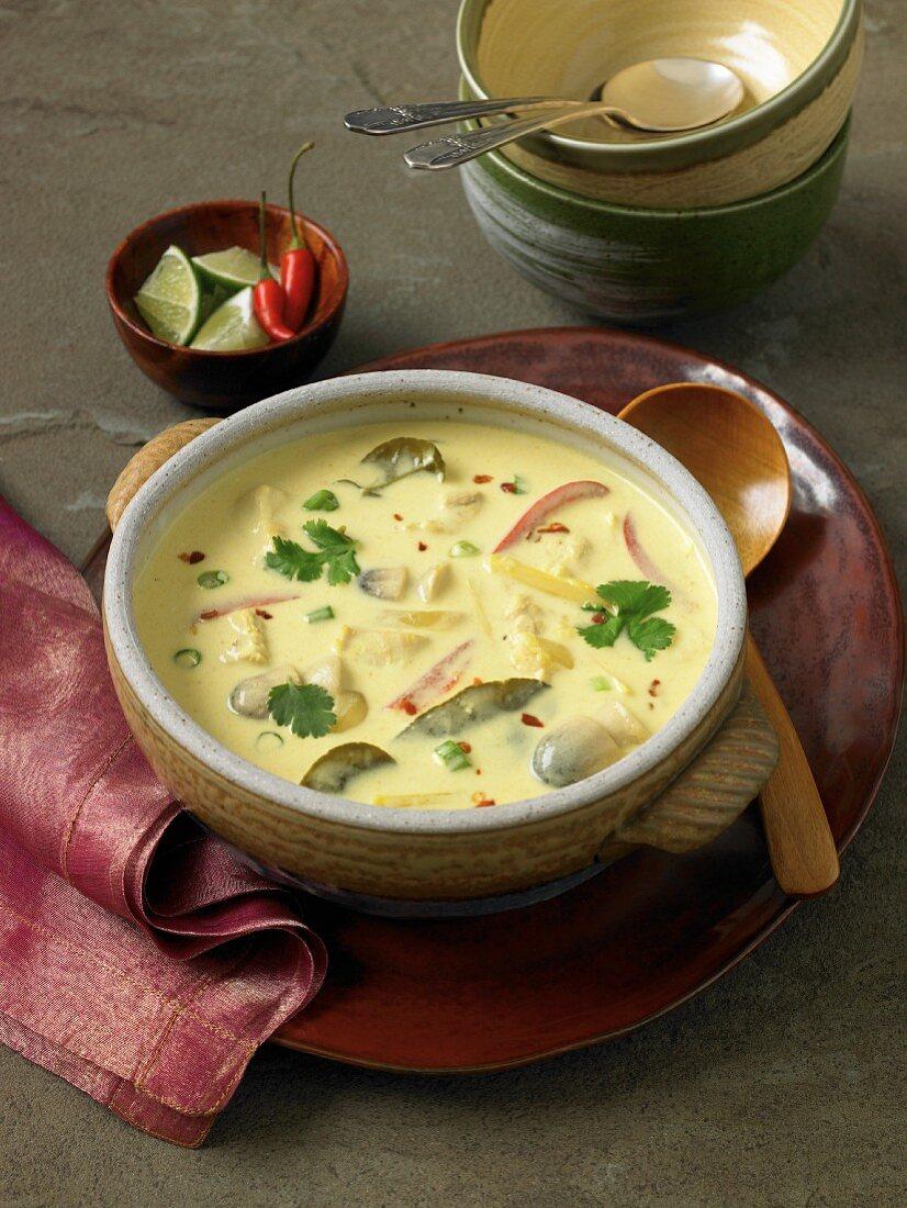 Tom Ka Gai soup (Thai chicken soup)