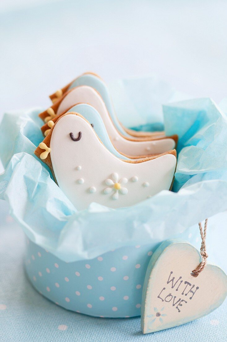 Gift box of baby shower cookies