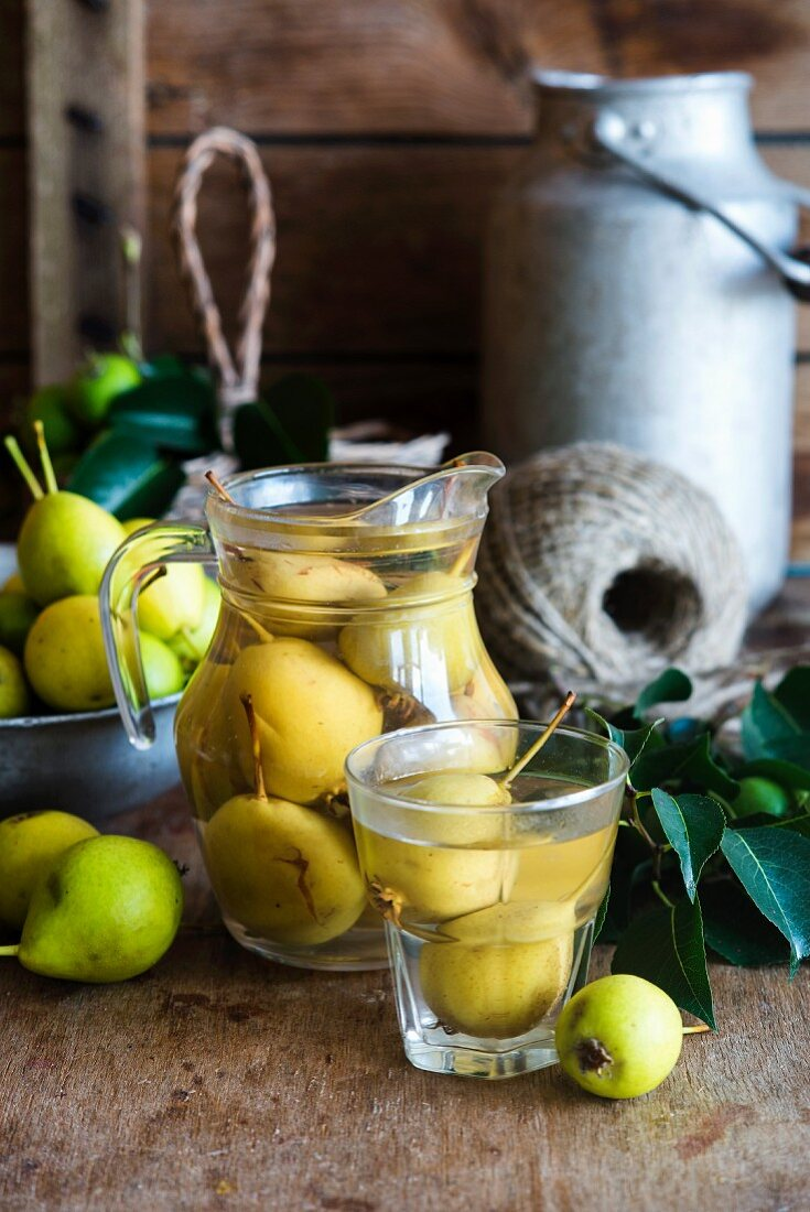 Russian Pear kompot (a non-alcoholic fruit drink)