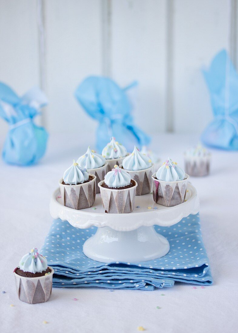 Chocolate cupcakes for a child's birthday