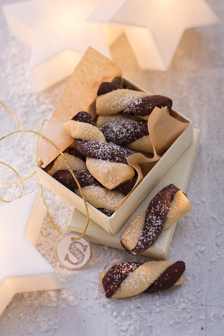 Schokoladen-Vanille-Swirls zum Verschenken