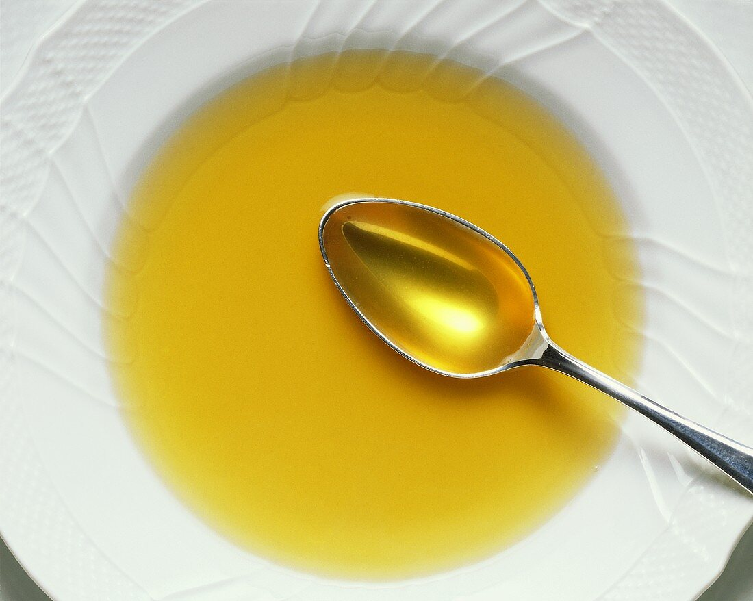 Chicken Stock with Spoon