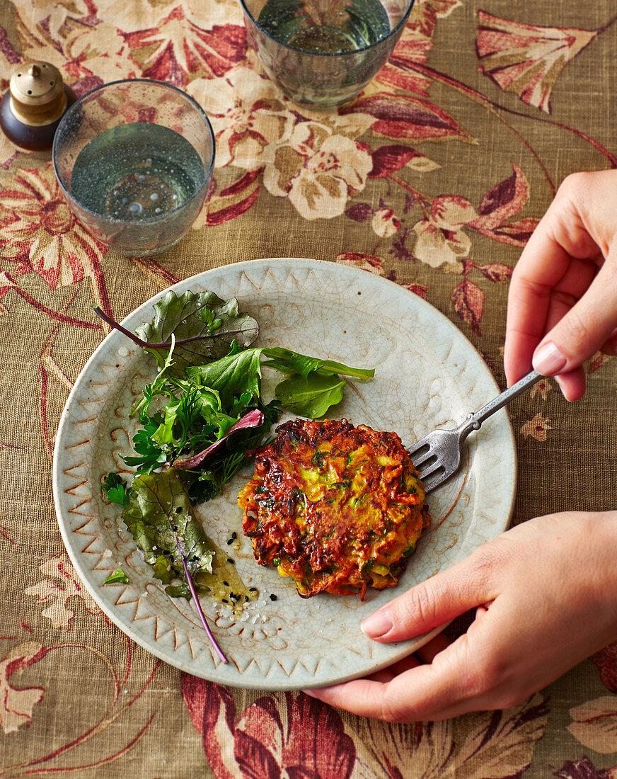 Persian vegetarian fritters