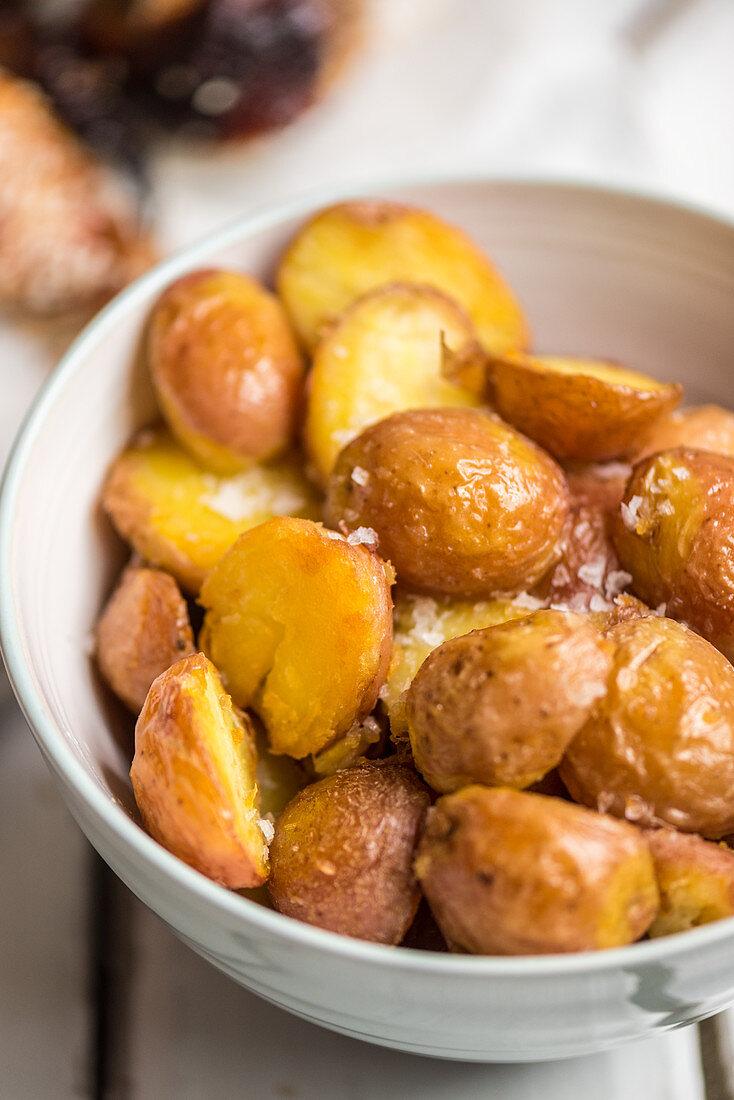 Canary Island potatoes with sea salt