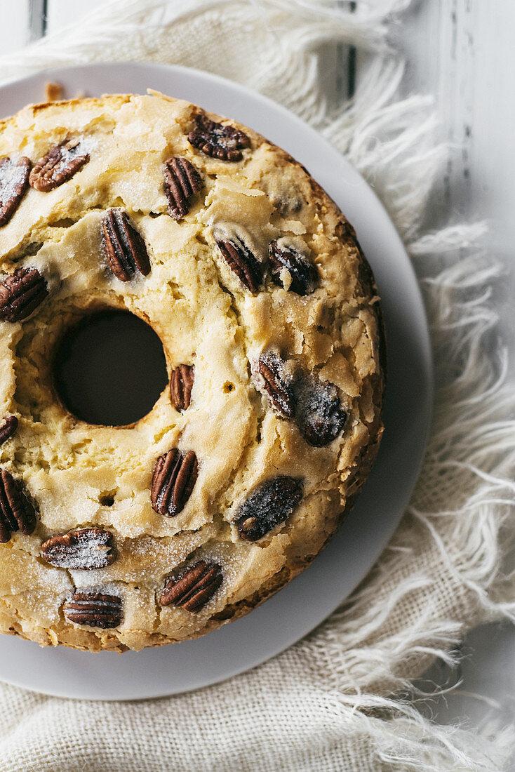 Southern pecan ring cake (USA)