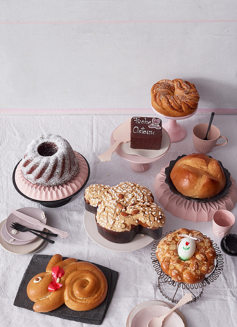 Various Easter Cakes License Images 12408547 Stockfood