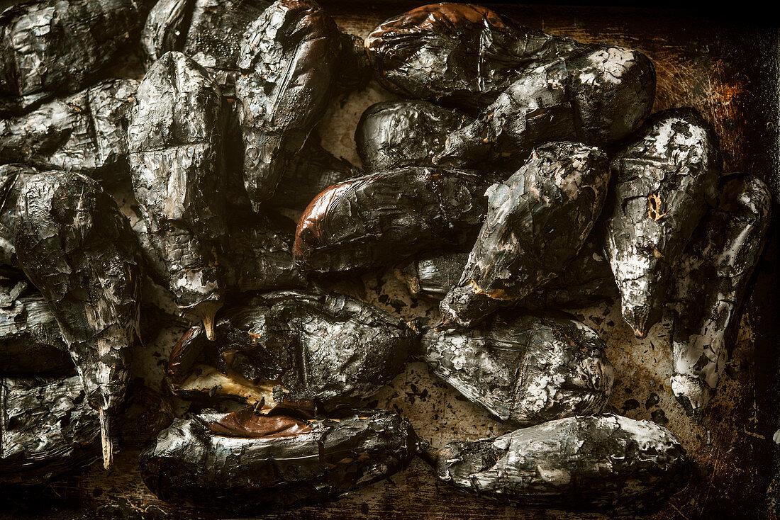 Oven roasted eggplants