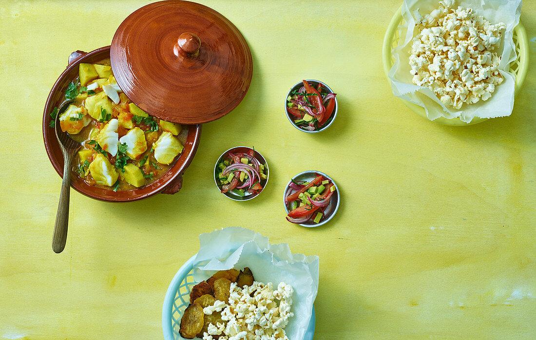 Fish stew with onion and tomato salsa (Ecuador)