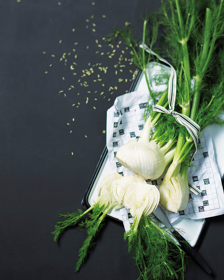 Fresh fennel and fennel seeds