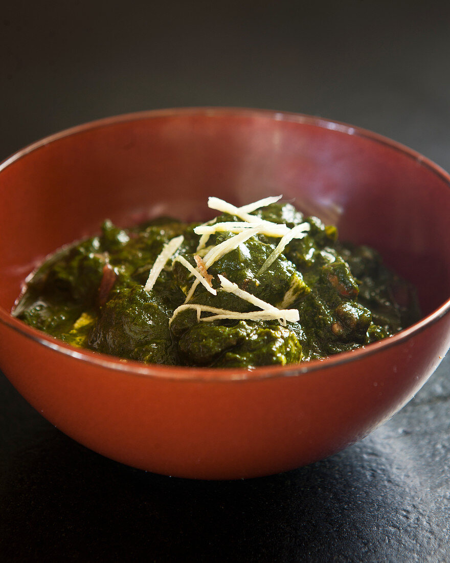 Indian-style spinach
