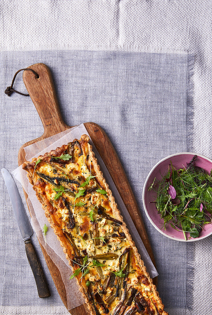 Fennel and leek quiche