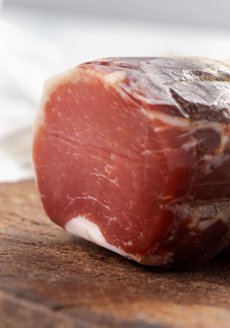 Mustela Sarda, air-dried pork loin from Sardinia