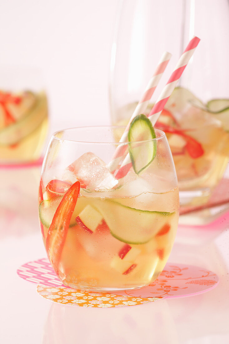 Spiced apple and cucumber punch