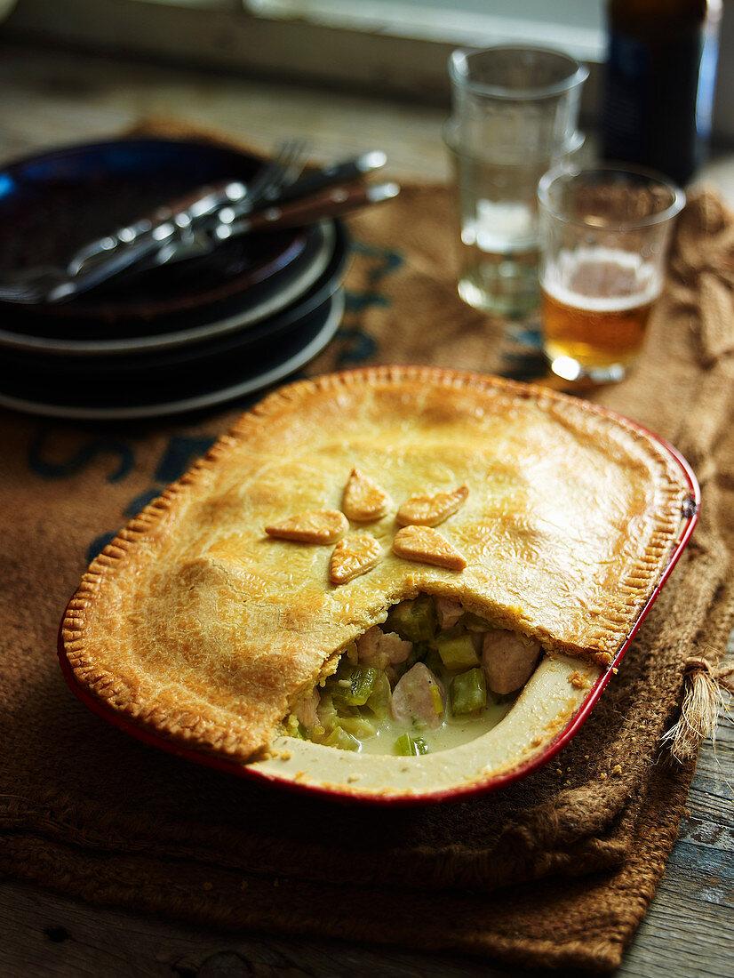 Chicken, Fennel and Celery Pie