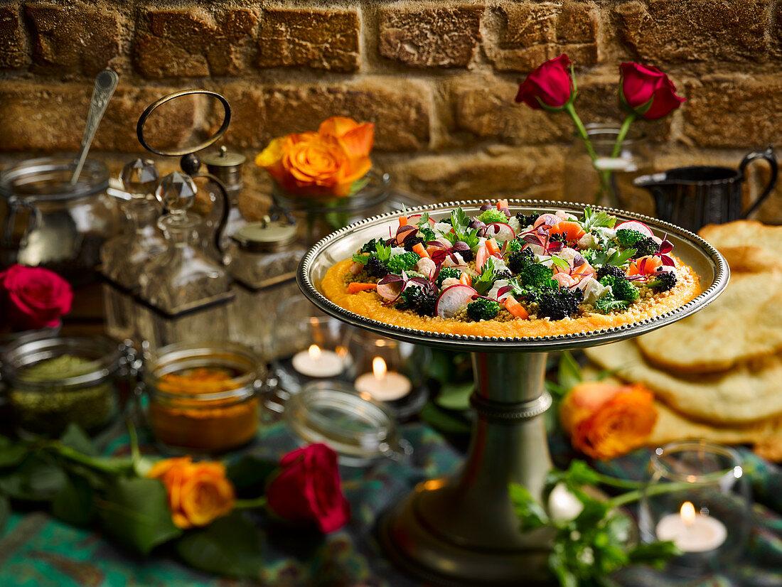 Wintersalat mit Brokkoli und Radieschen