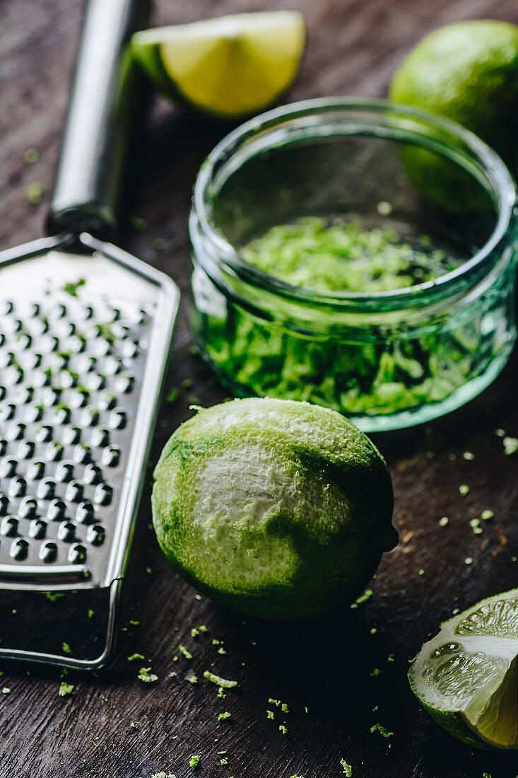 Freshly grated lime zest
