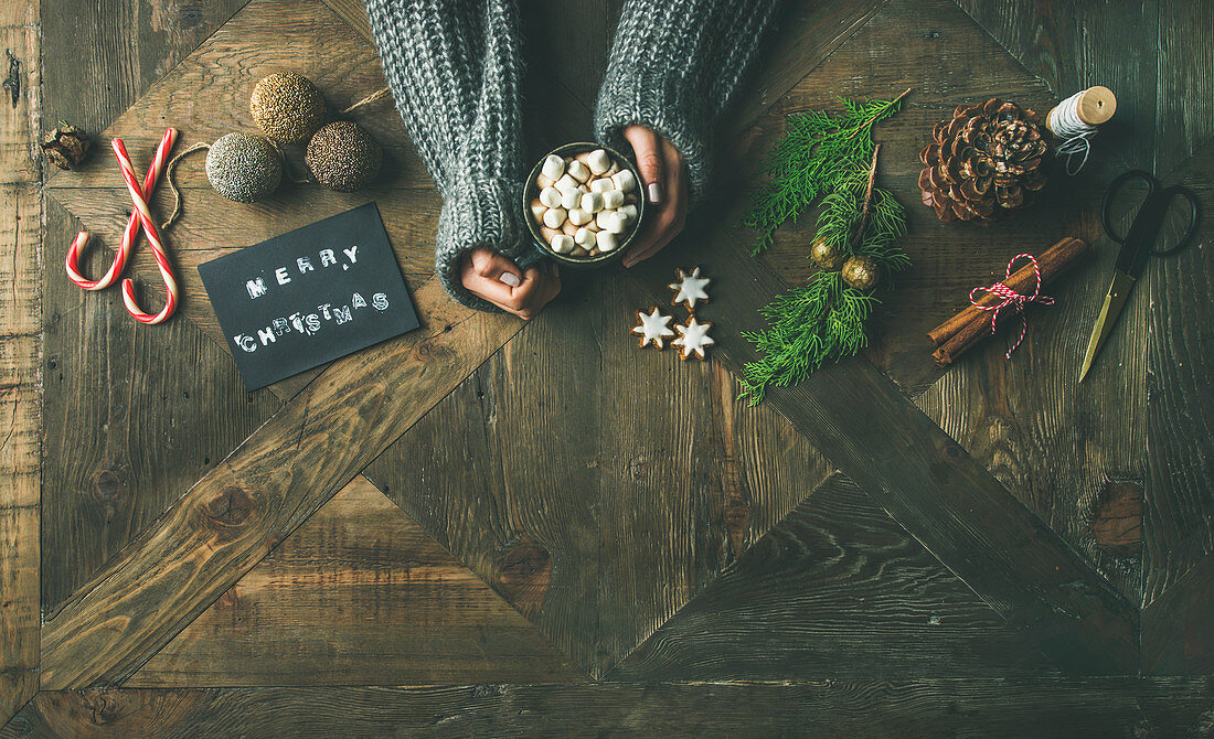 Christmas, New Year holiday preparation background