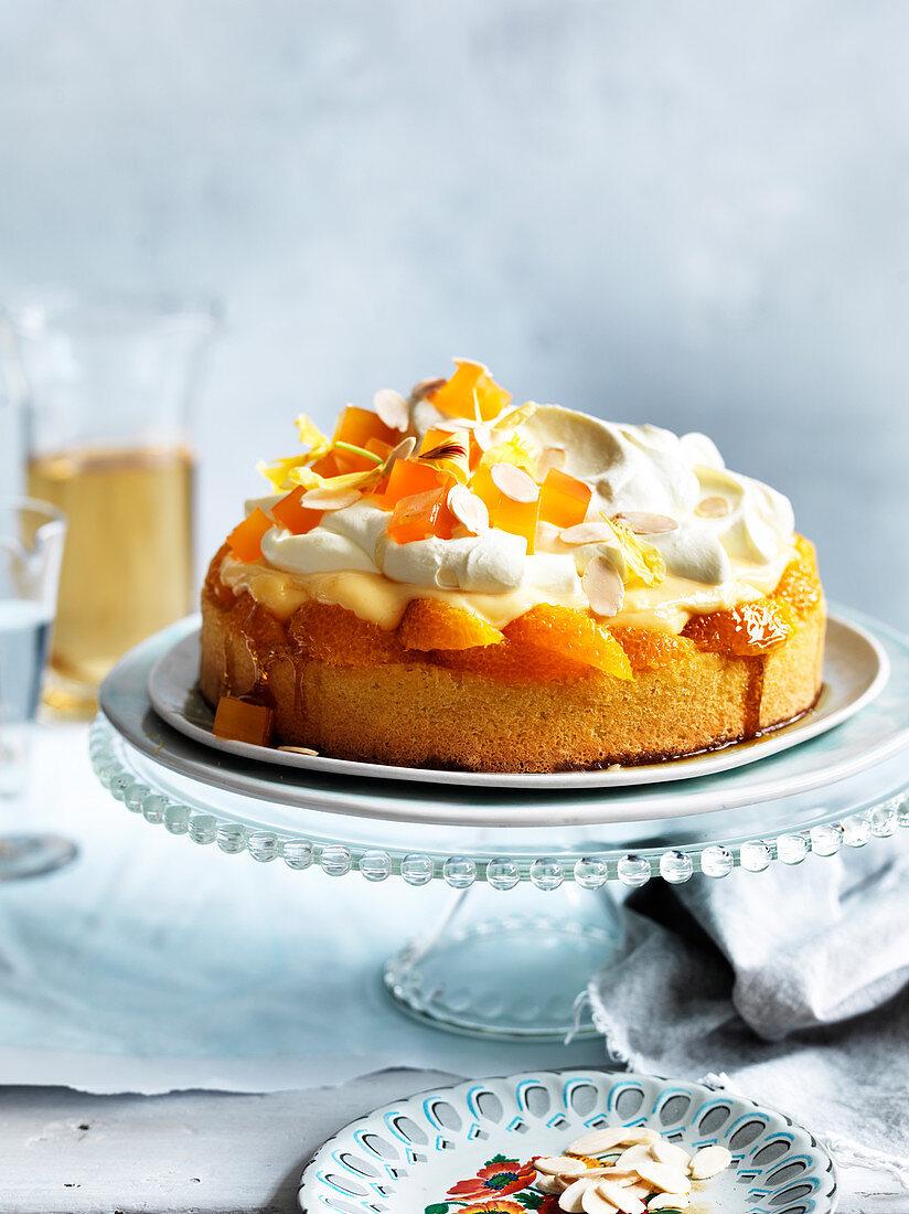 Orange Blossom Jelly Trifle Cake