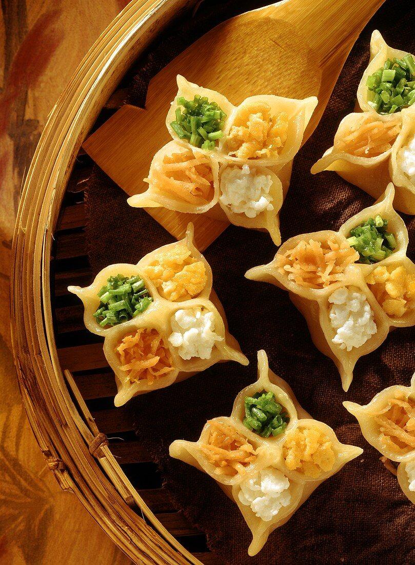 Four Colored Dumplings