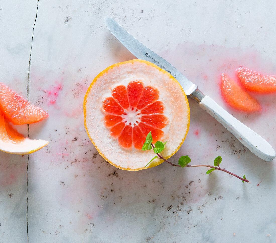 Pink grapefruit fillets