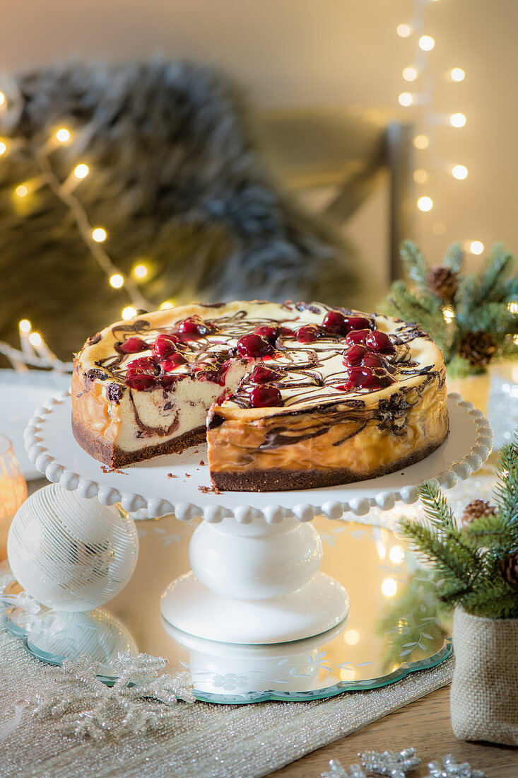 Chocolate and Sour cherry cheesecake