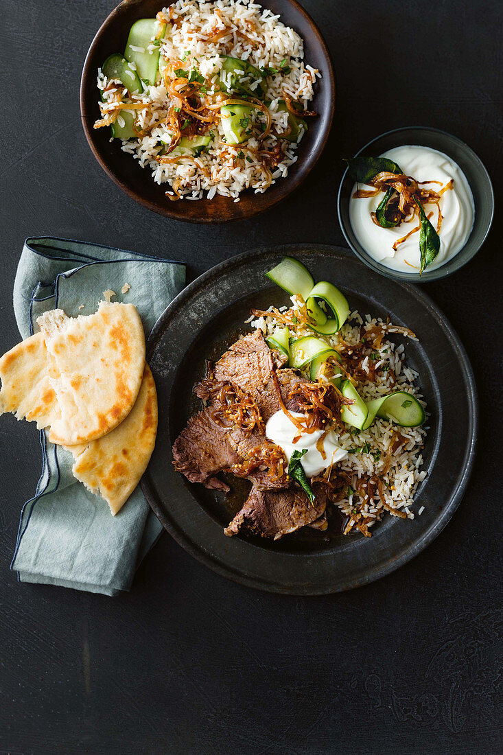 Slow cooker Indian-style roast beef