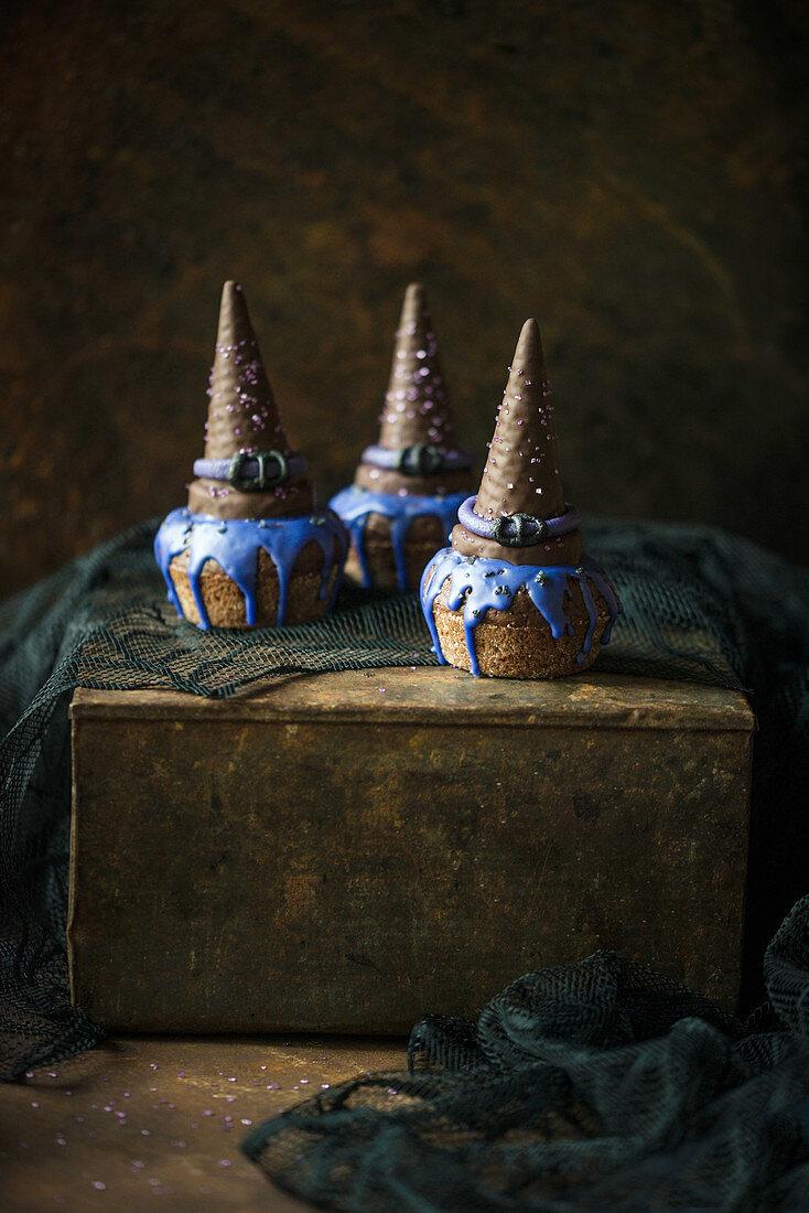 Vegan muffins for Halloween