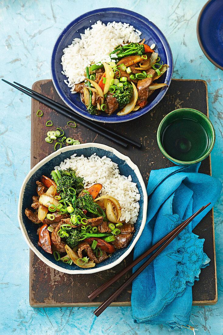 Mongolian lamb stir-fry
