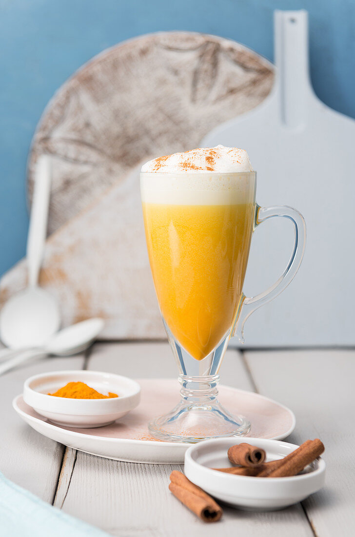 Turmeric latte with cinnamon