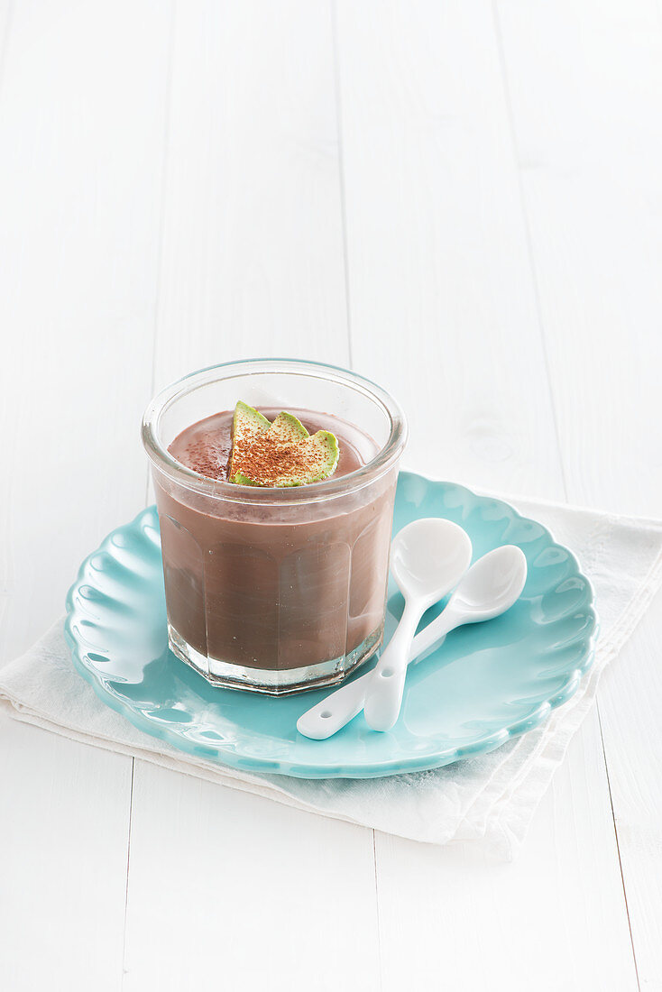 Chocolate mole with avocado
