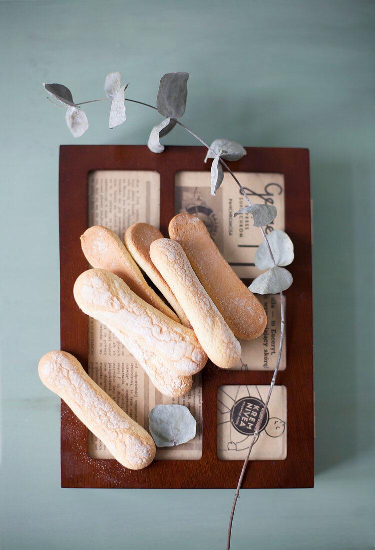 Homemade sponge biscuits