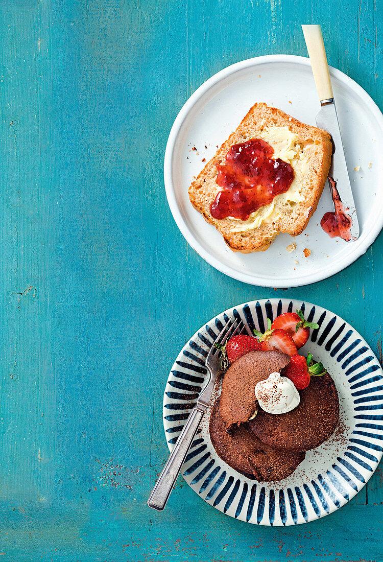 4-ingredient apple and banana bread; 4-ingredient triple choc fudge brownie pancakes