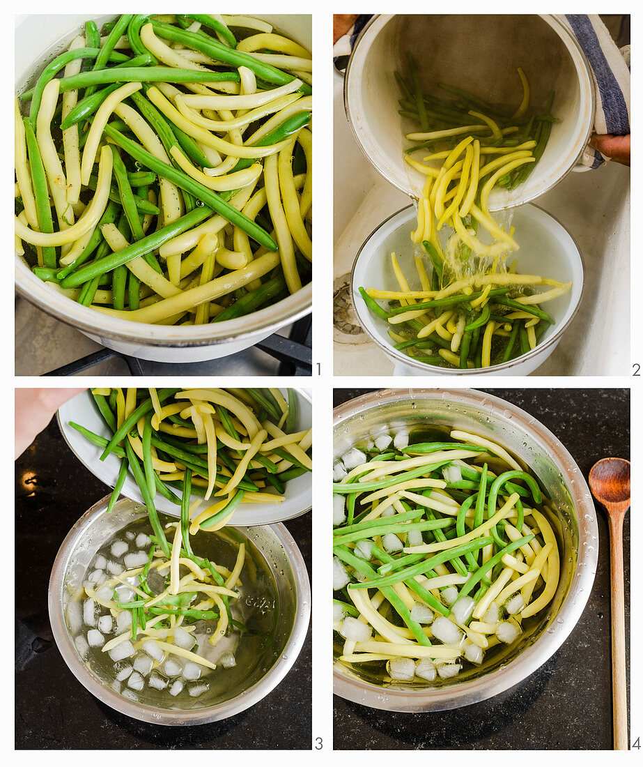 How to blanch beans