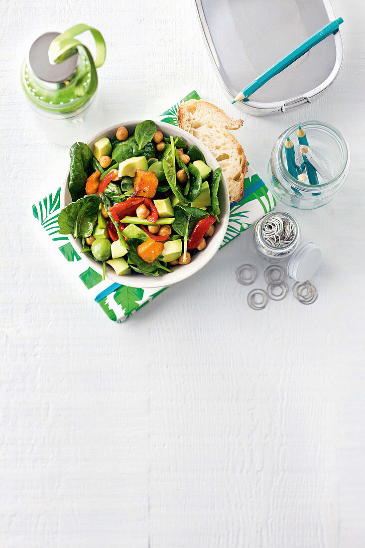 Spiced chickpea and olive salad