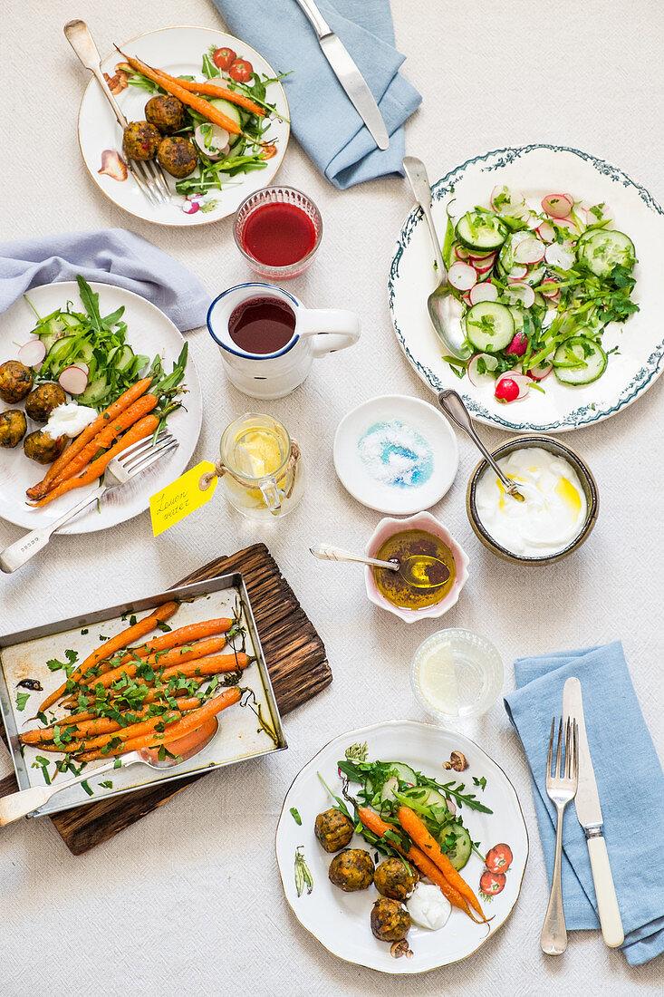 Vegetarian summer lunch