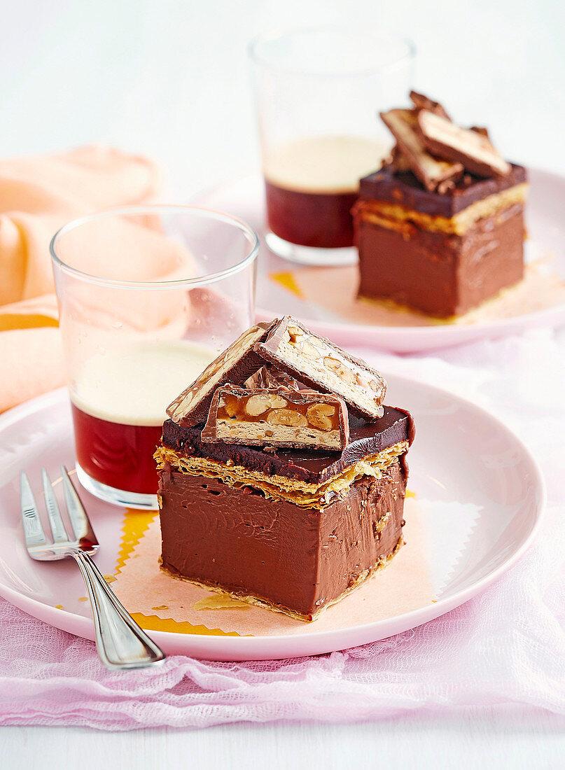 Choc-Vanilla Slice