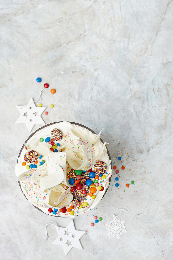 Rainbow party trifle