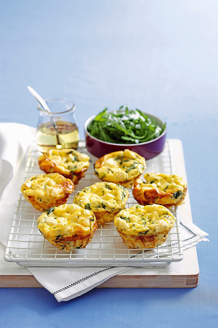 Spinach and Cheese Frittatas