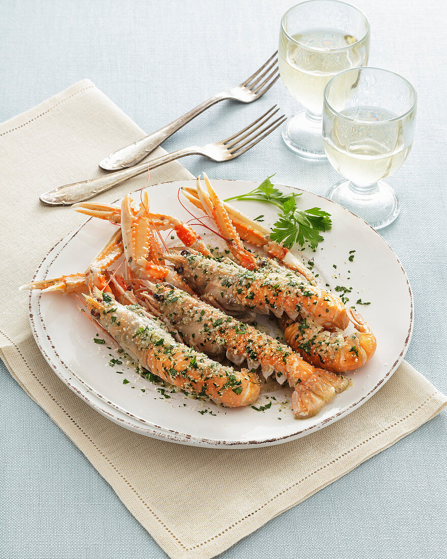 Scampi in Busara Sauce