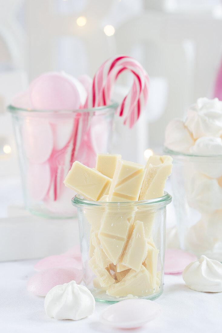 White chocolate bars