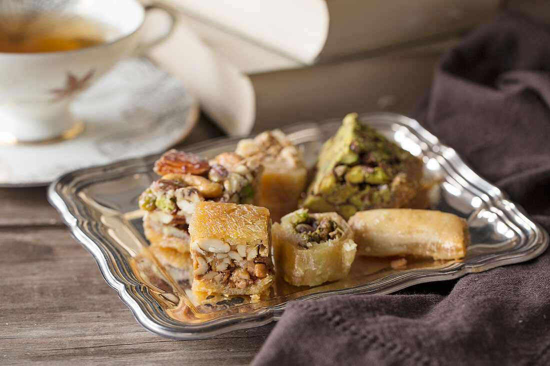 Syrian sweets with pistachios