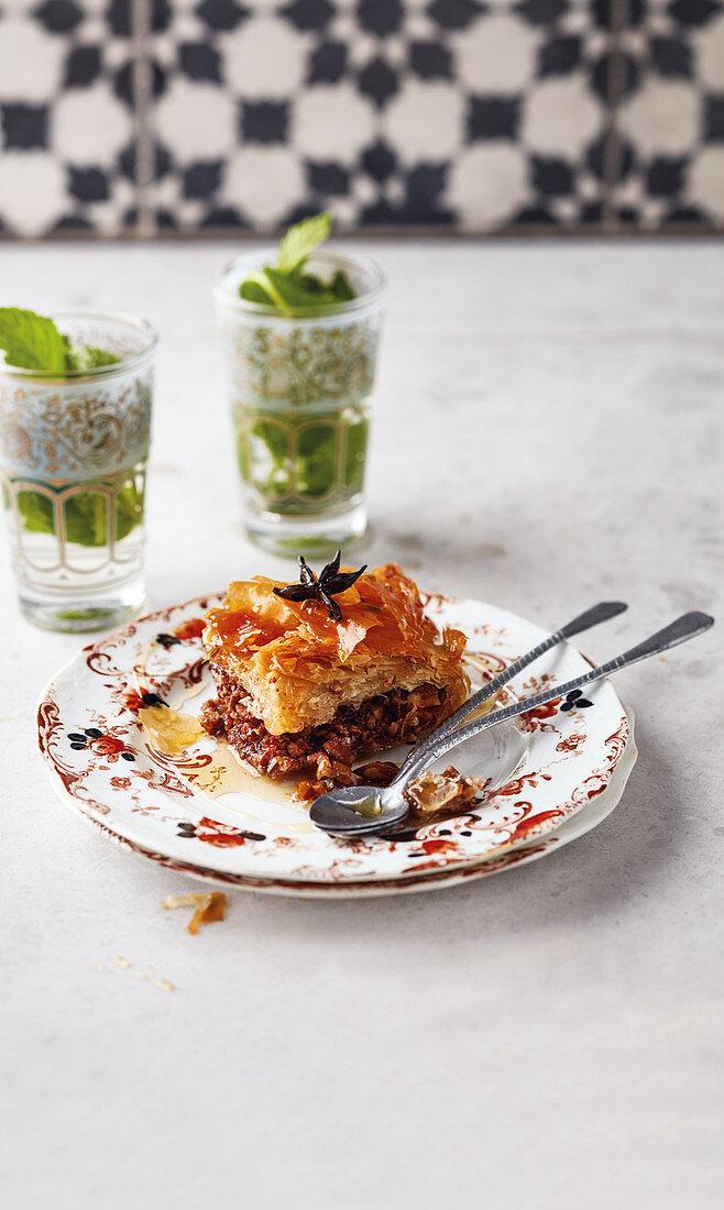 Honey and rose baklava