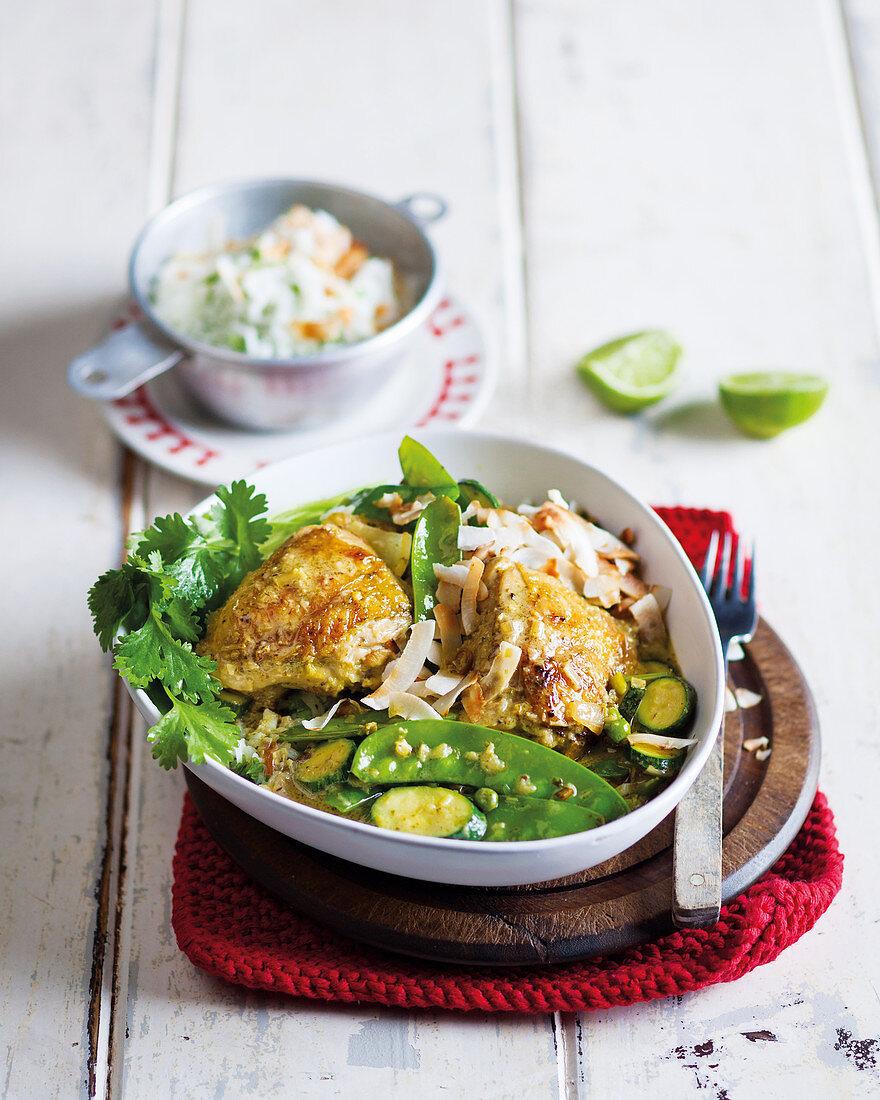 Asian Coconut and lemongrass chicken